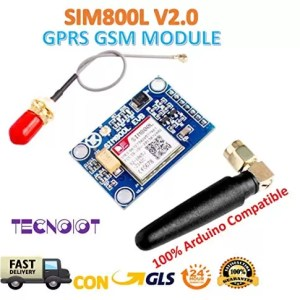 raspberryitalia sim800l v20 5v wireless gsm gprs module quad band with antenna cable cap