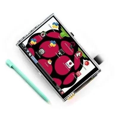 3.5 Inch 320 X 480 TFT LCD Display Touch + CASE Raspberry Pi 2 Model B & RPI