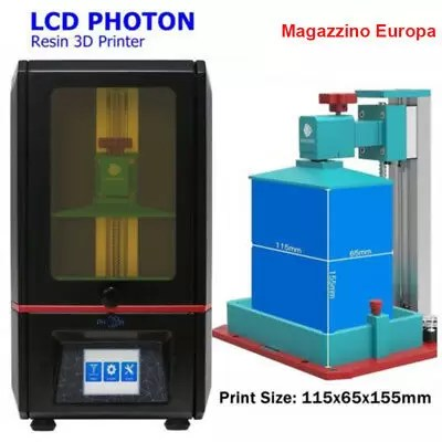 "Anycubic SLA Photon Stampante 3d UV Resina Light-Cure 3D Printer 2.8""TFT EU SHIP"