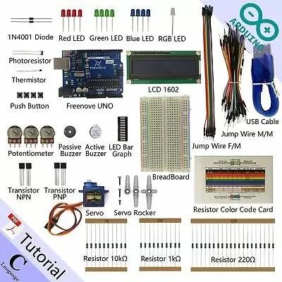 Freenove LCD 1602 Starter Kit for Arduino | Beginner Learning | Uno R3 (g6P)