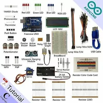 Freenove Ultrasonic Starter Kit for Arduino | Beginner Learning | Uno R3 (P4D)