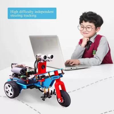 Kit Smart Video Raspberry Pi 3B + Robot Car Scheda Espansione Tracciamento
