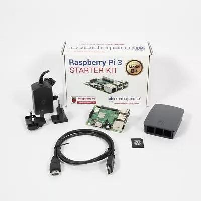 Raspberry Pi 3 Model B+ Official Starter Kit BLACK with 16GB microSD (NOOBS prei