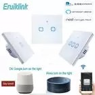 Sonoff Ewelink App Control Eu Type Wifi Smart Switch Glass Panel Touch Wall Led1