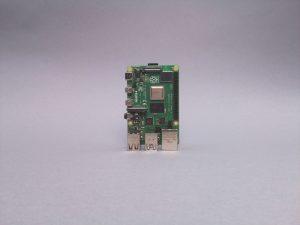 Photograph of a Raspberry Pi 4 captured by the Raspberry Pi Camera Module v2