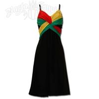 Rasta and Reggae Short Spaghetti Strap Dress