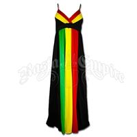 Rasta and Reggae Long Empress Dress