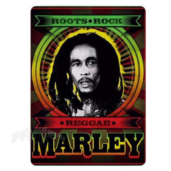 Bob Marley Roots Rock Reggae Fleece Throw @ RastaEmpire.com