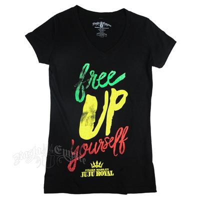 Julian Marley JuJu Royal Free Up Yourself Black T-Shirt – Women's