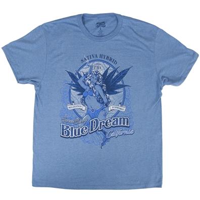 Seven Leaf Blue Dream Strain Light Blue T-Shirt – Men's