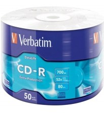 CD-R MEDIA 1/50 VERBATIM SPINDLE 700MB