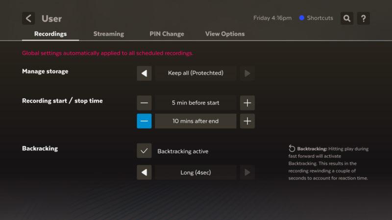 Settings - Users