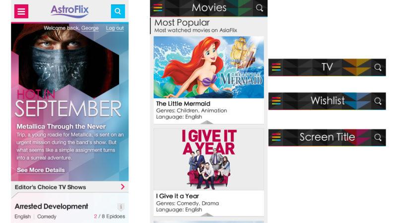 Entertainment app - mobile web