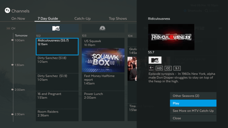 Electronic TV guide
