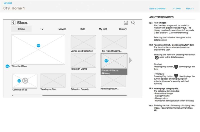 The third-party integration wireframe