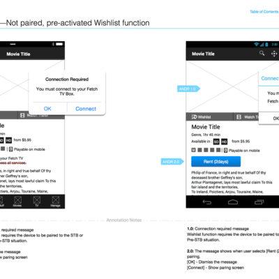 Mobile modal screens