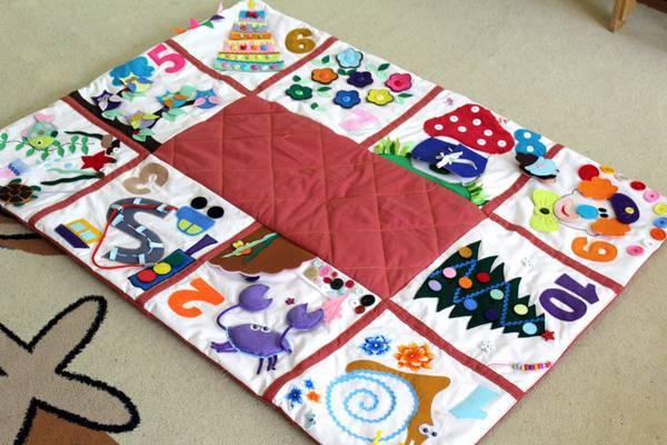 缝制一个发展地毯