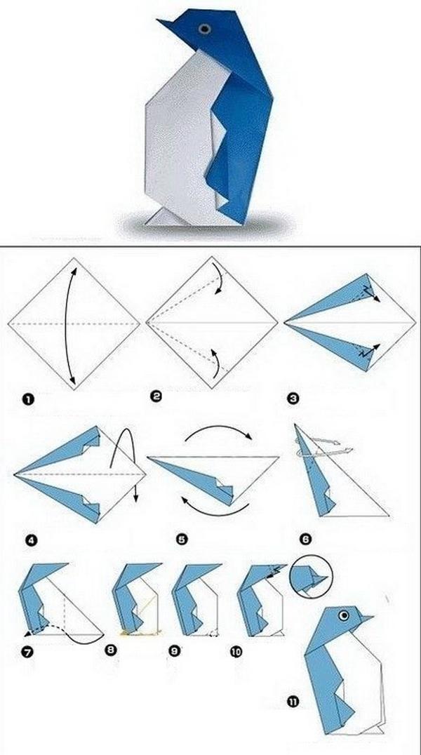 Оригами из бумаги для детей - как делать (простые схемы ...