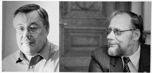 Vytautas Kirkutis ir Leonas Peleckis-Kaktavičius (Benedikto Januševičiaus nuotrauka)