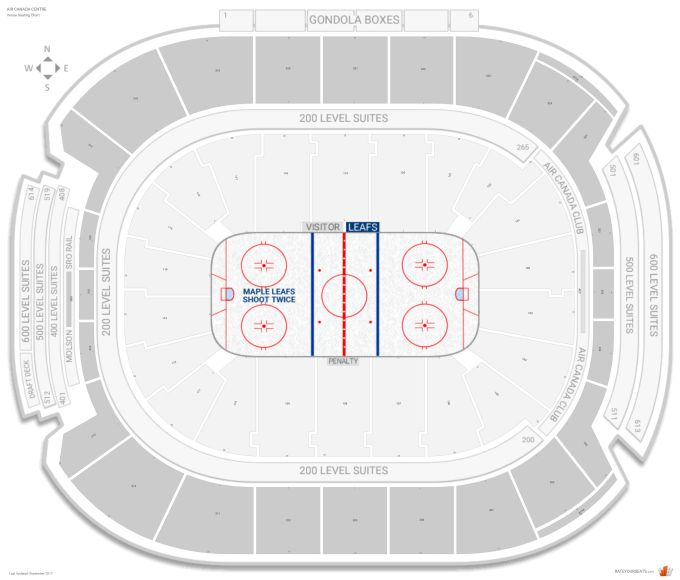 Toronto Maple Leafs Hockey Seating Chart Www