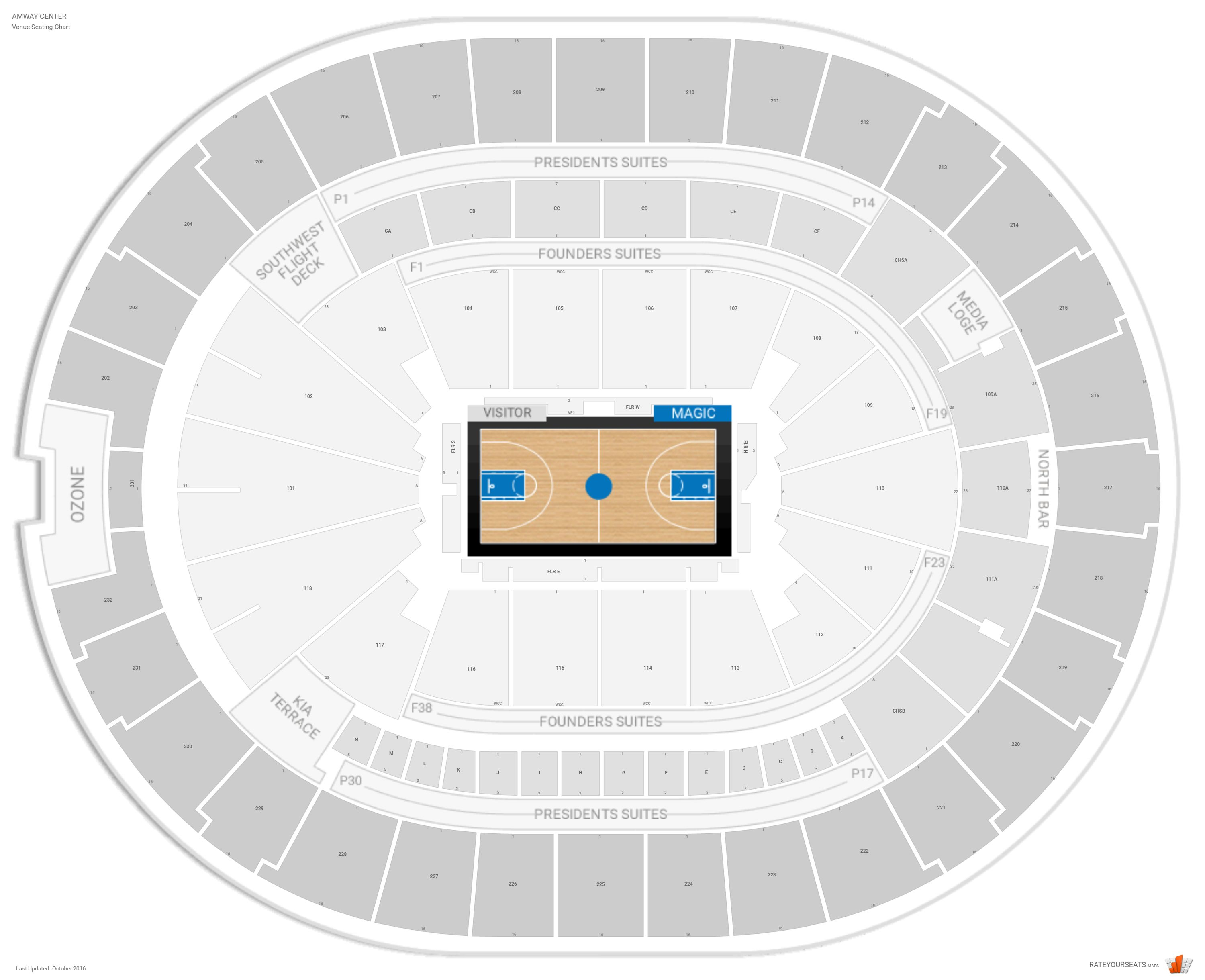 Amway Seating Chart With Seat Numbers