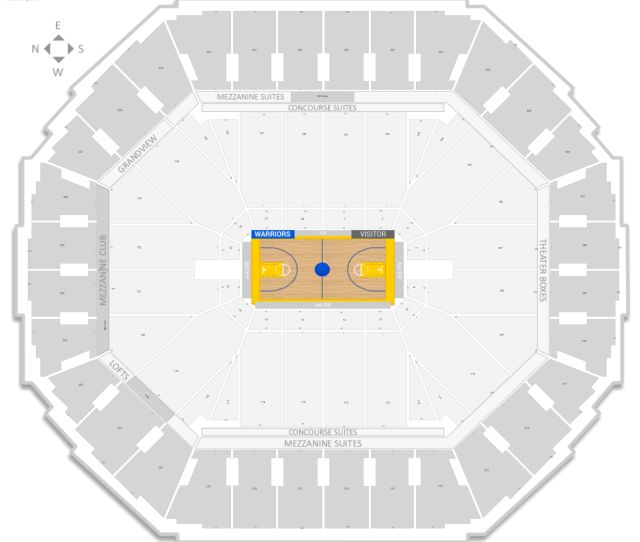 Oracle Arena Seating Chart With Row Numbers