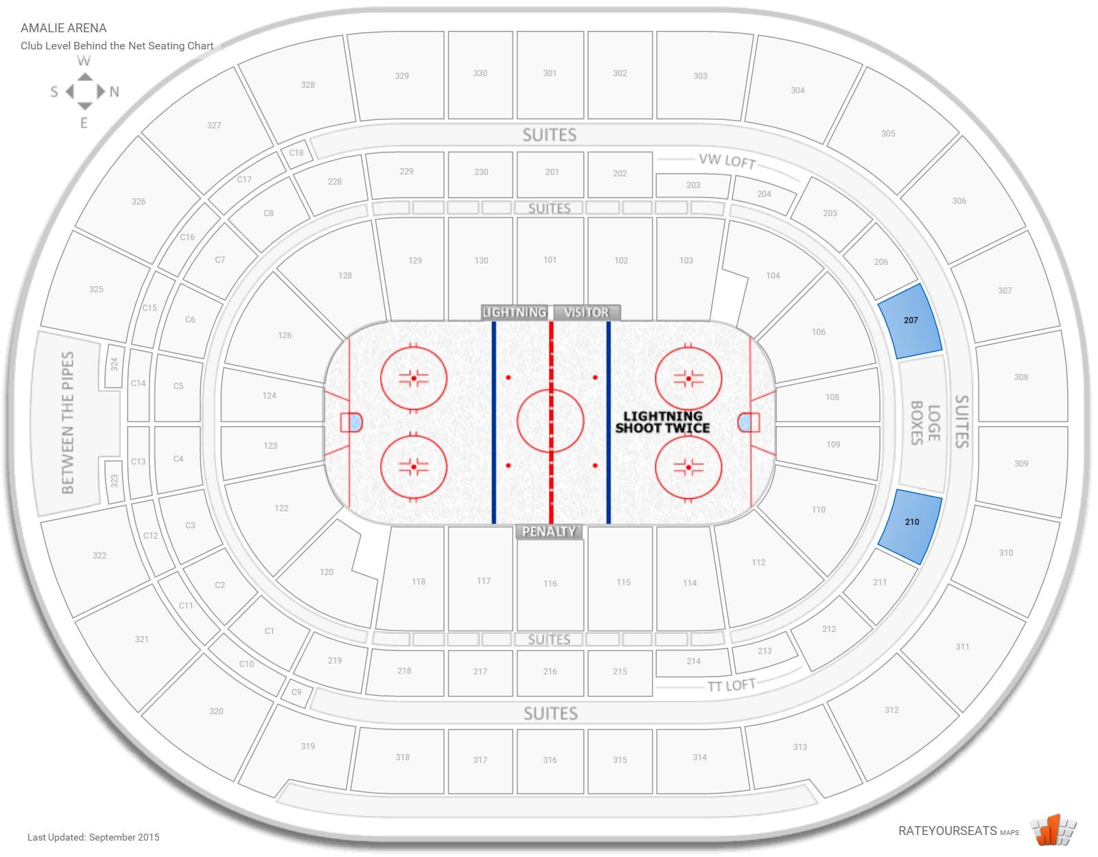 Amalie Arena Hockey Seating