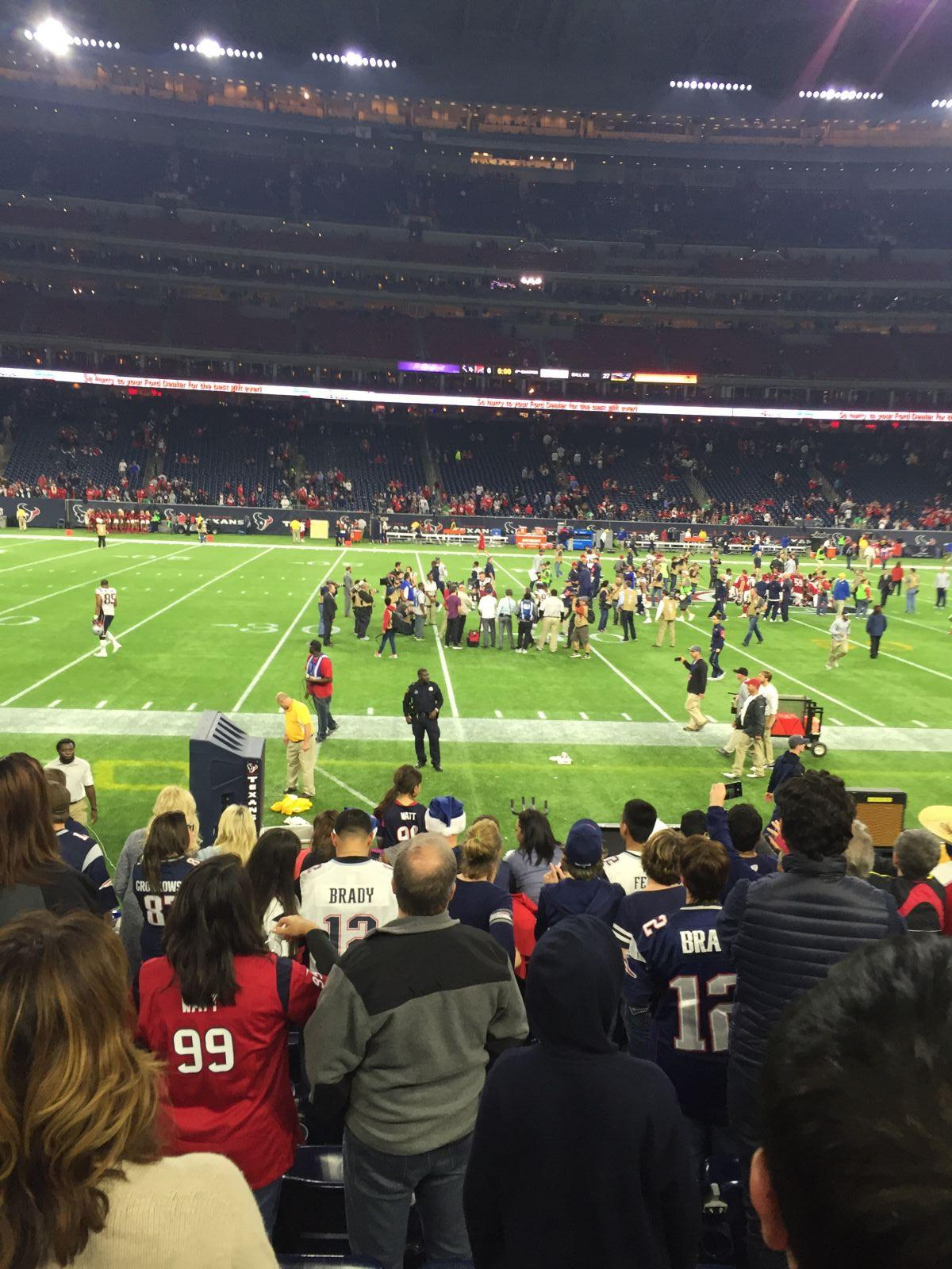At The 30 Yard Line 10 Rows From The Field Nrg Stadium