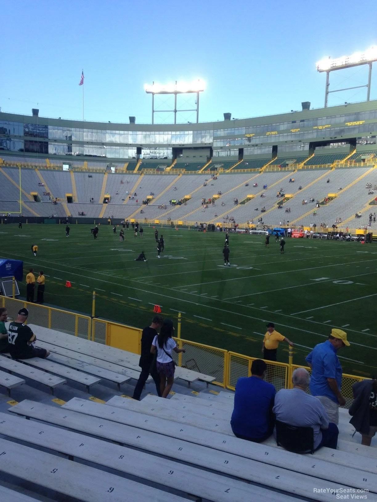 Lambeau Field Section 130 Green Bay Packers