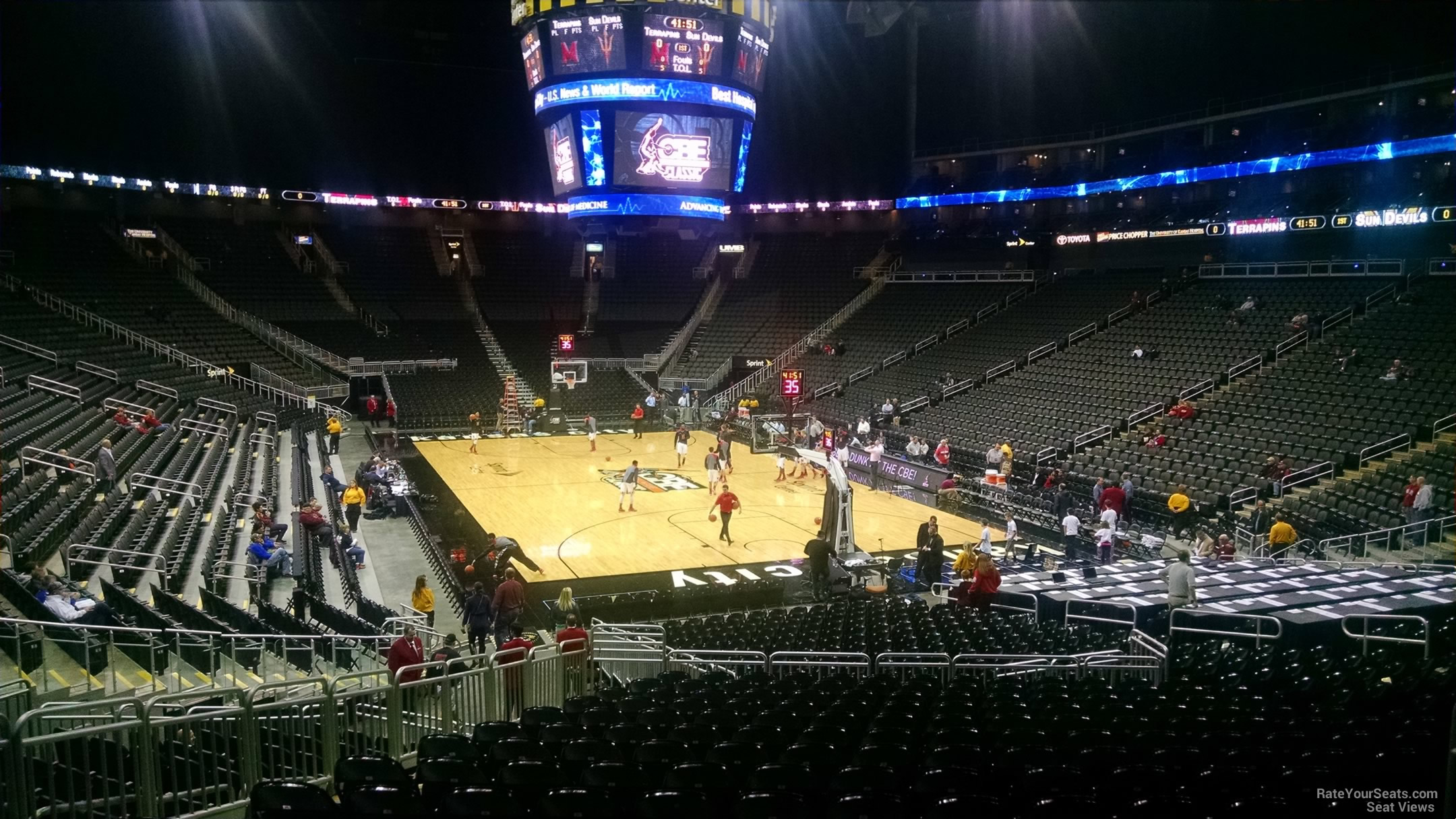 Sprint Center Section 113 Basketball Seating