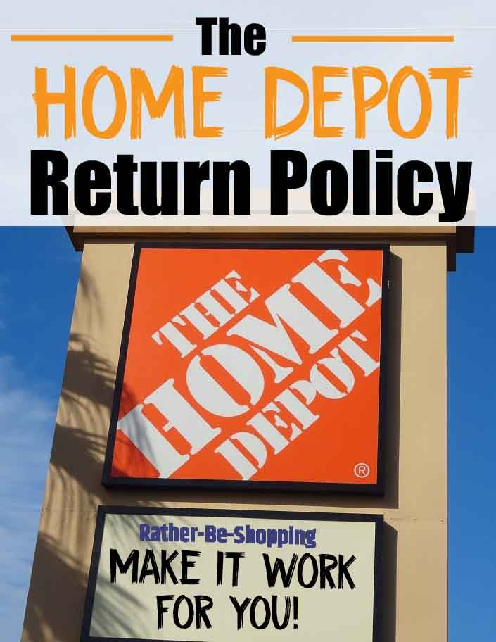 home depot return policy insider tips