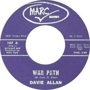 Streets Part 1: reissue of Davie Allan's WAR PATH on Marc Records.