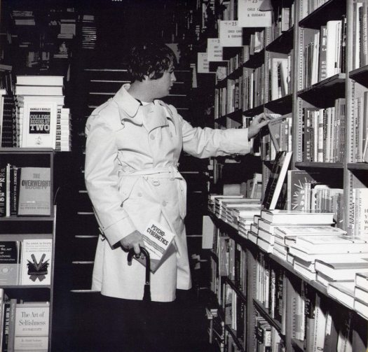 Convoluted Conversation Part 1: photo of Brian Wilson shopping for books in 1966.