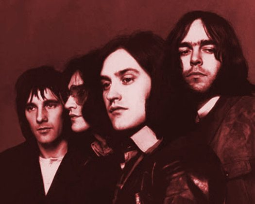 Arthur album: photo of the Kinks 1969 tinted rusty red.