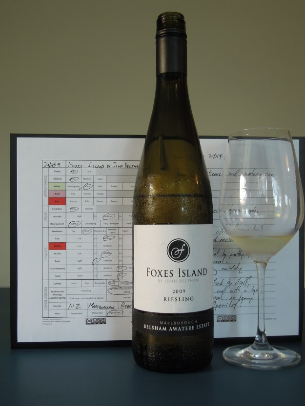 Foxes Island Riesling 2009
