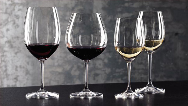 Wine Glasses Different Shapes Filled