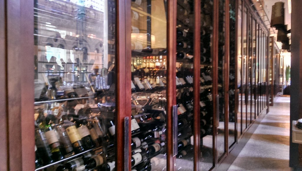 ...versus our still (red) wines. White wines are in four separate unseen fridges.
