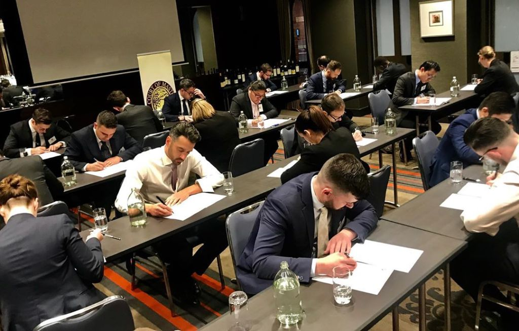 The Theory Exam. Photo by Court of Master Sommeliers EU.