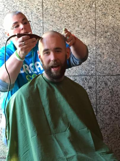 Ian Anderson raised over $1,300 and Ratliff & Taylor matched employee donations to St. Baldrick's foundation for Childhood Cancer Research. Then Ian had his head shaved on St Patrick's day.