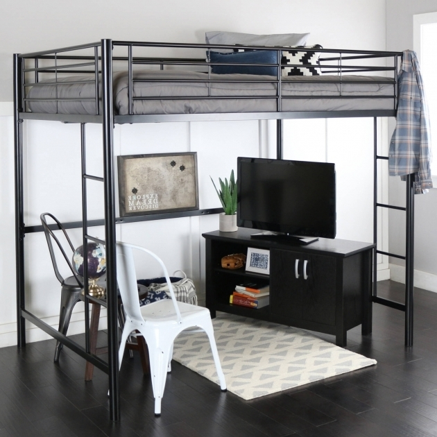 Full Size Metal Loft Bed With Desk Bed Amp Headboards
