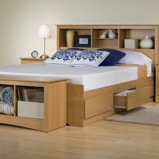 Pine Wood Full Size Box Bed With Drawers 2019 Bed
