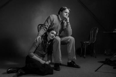Photo of Abbey Matt as Anne Frank & Chris Henderson as Peter van Daan (Photograph by David Elliott)