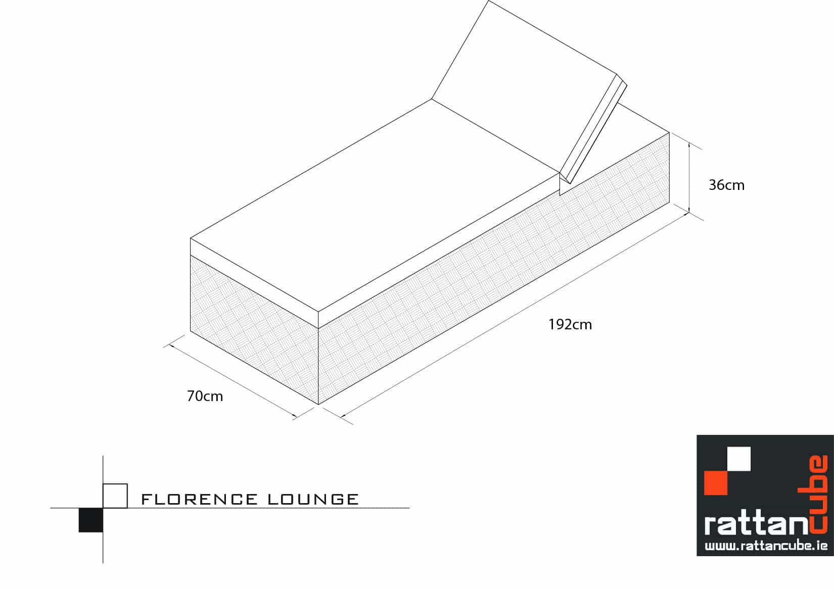 Florence Lounger For Your Garden Or Patio Area Sleek