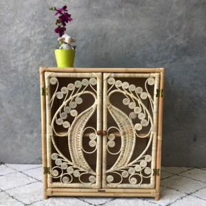 peacock cabinet with flower