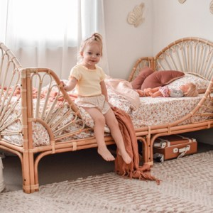 meadow single rattan bed