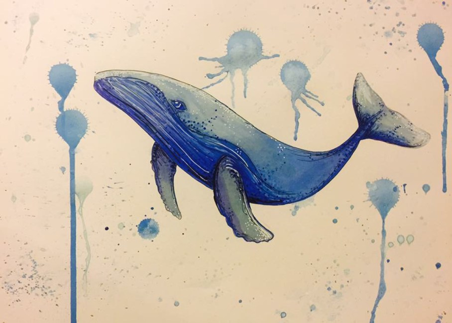 Image by Nicole Zarate, blue whale