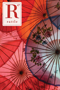 Cover of issue 47, red parisols