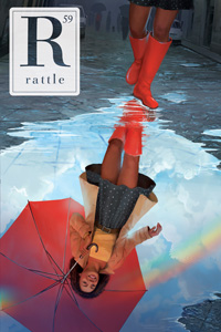 cover of issue 59, girl with umbrella