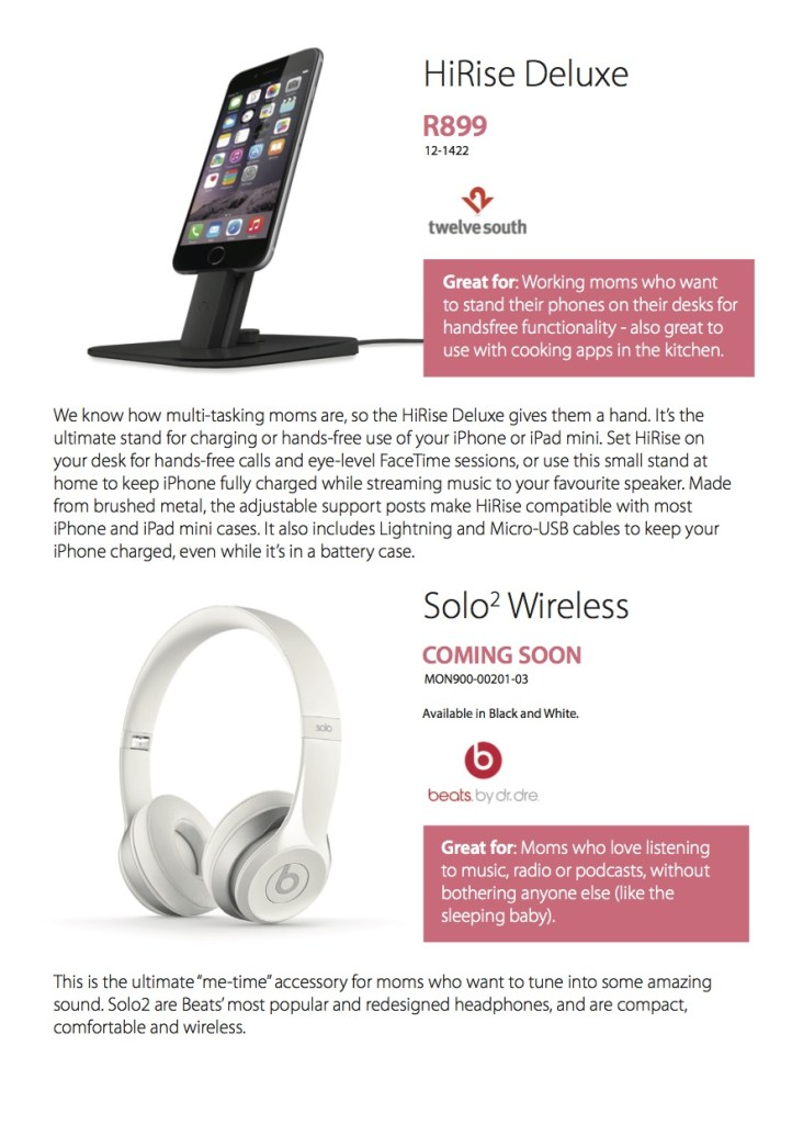 iStore Mothers Day Guide5 2015