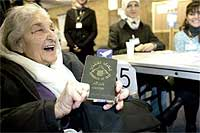 83 year old Iraqi woman voting for first time